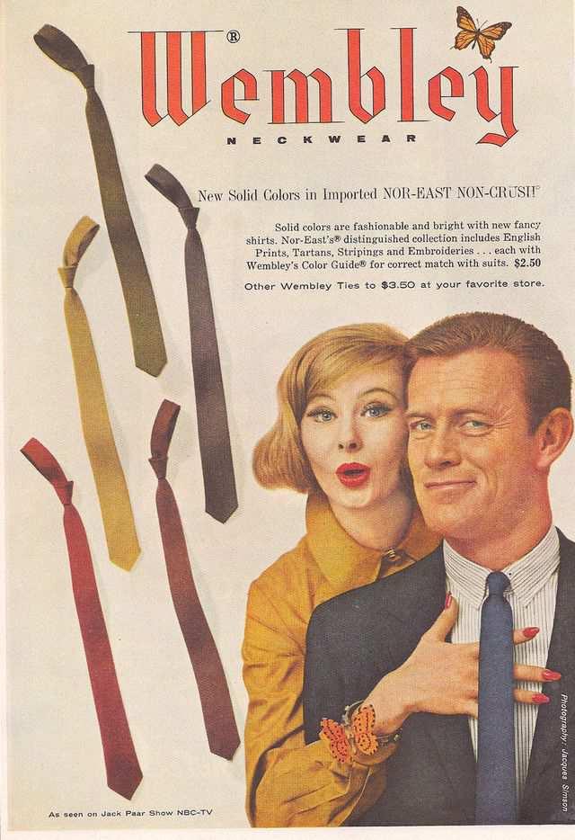 vintage poster advertisment design Men's clothing