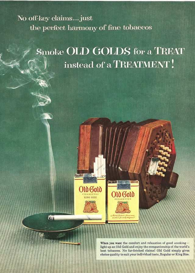 vintage poster advertisment design Old Gold Cigarettes