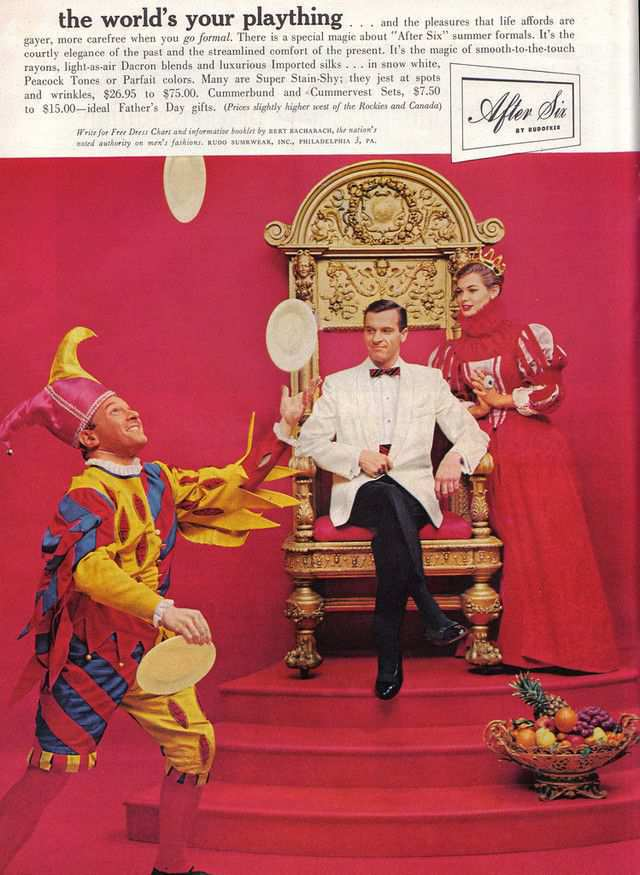 vintage poster advertisment design The Jester and the Tuxedo