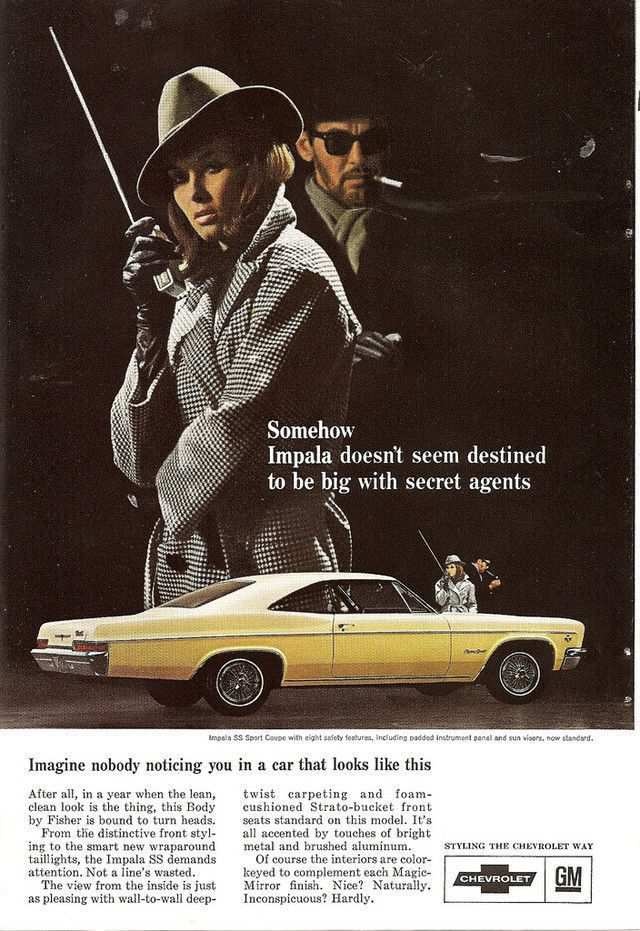 vintage poster advertisment design Chevrolet Impala