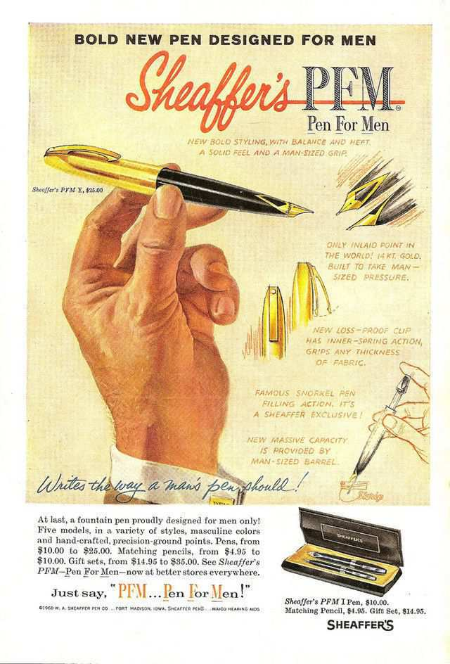 vintage poster advertisment design Sheaffer Pen For Men