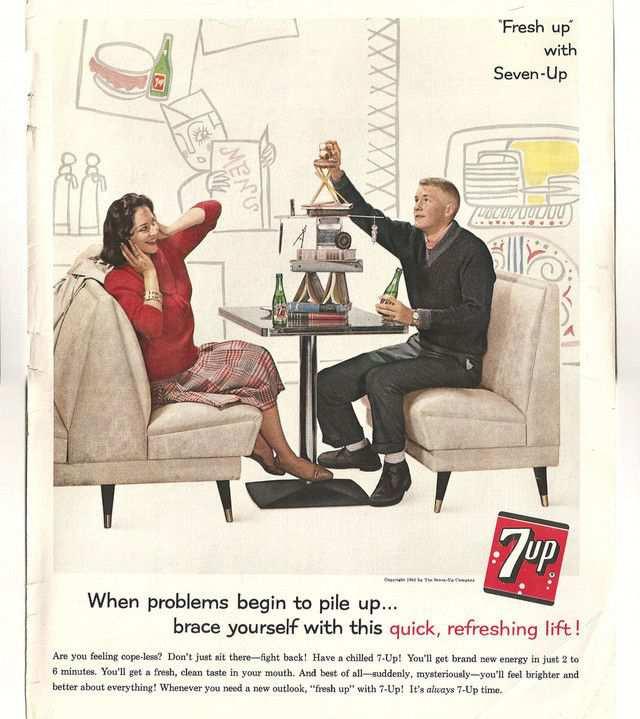 vintage poster advertisment design 7-Up