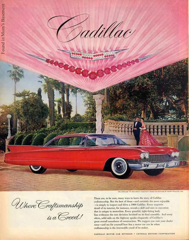 vintage poster advertisment design Fabulous vintage ad for Cadillac
