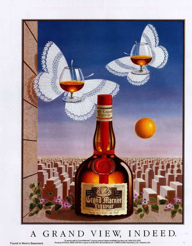 vintage poster advertisment design Grand Marnier ads