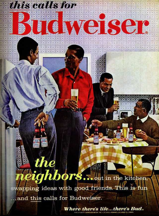 vintage poster advertisment design Budweiser
