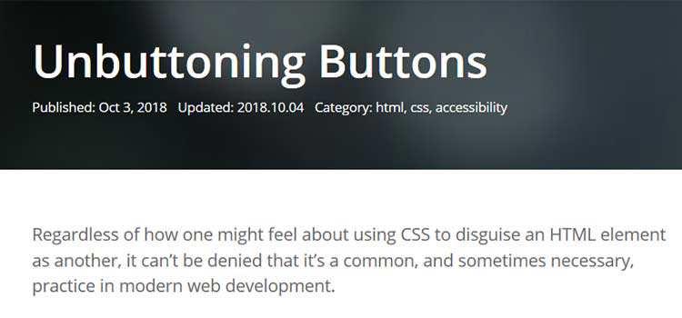 Unbuttoning Buttons