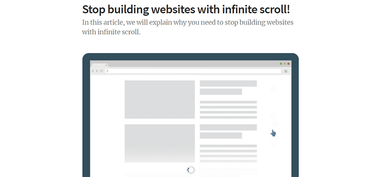 Stop building websites with infinite scroll!