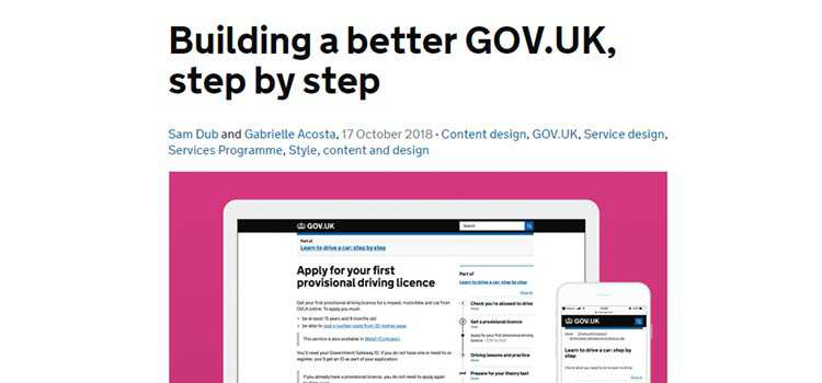 Building a better GOV.UK, step by step