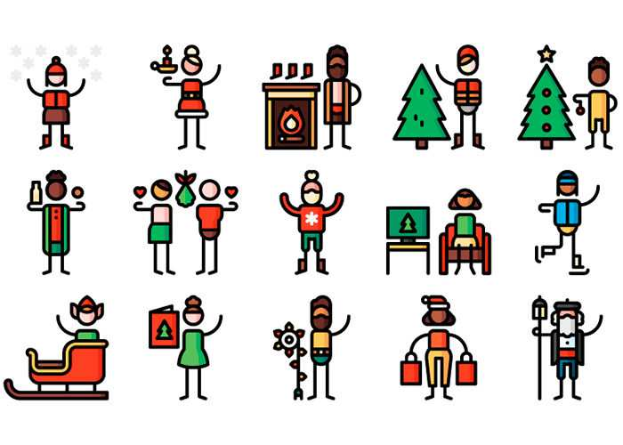 The Free Christmas Pictogram Collection (50 Icons, EPS & AI)
