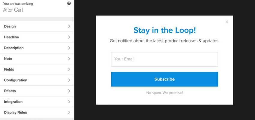 Building a form with MailOptin.