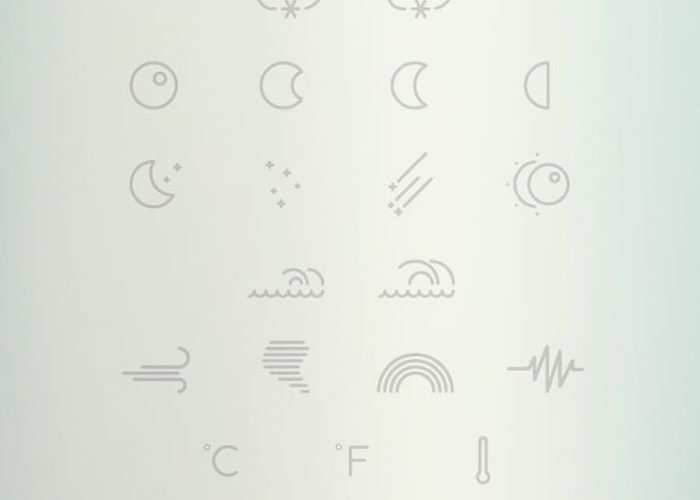 Free Weather Outlined Icon Collection for Illustrator