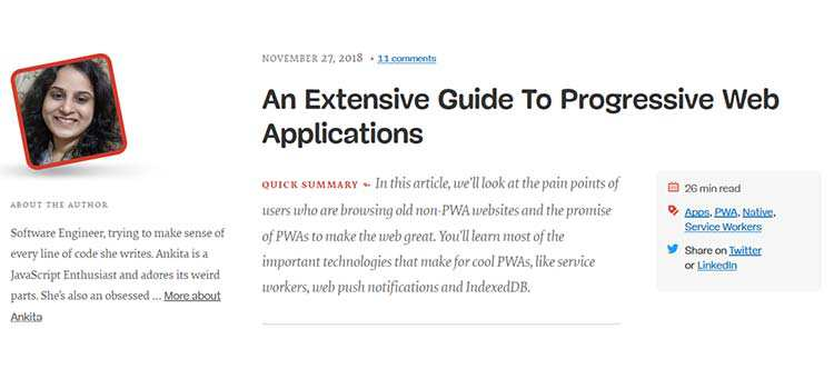 An Extensive Guide To Progressive Web Applications