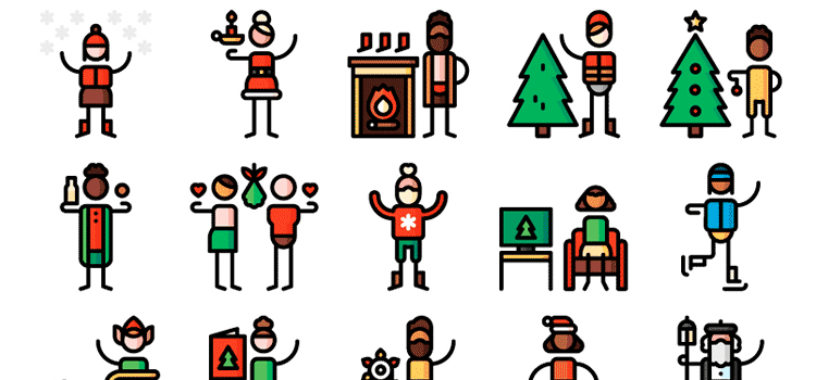 The Free Christmas Pictogram Collection