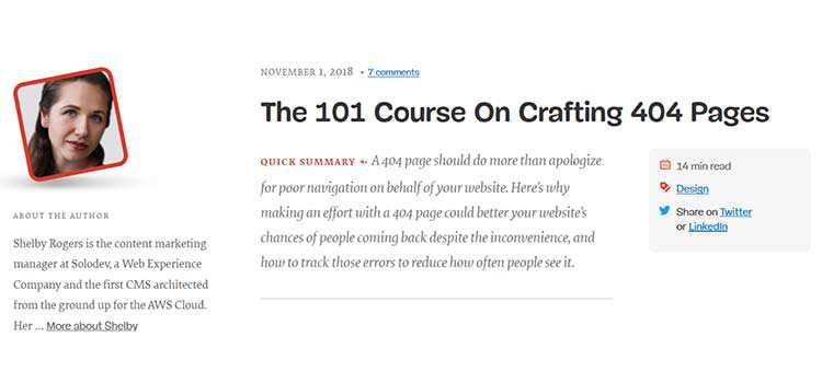 The 101 Course On Crafting 404 Pages