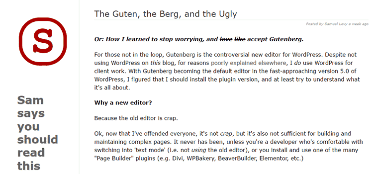 The Guten, the Berg, and the Ugly