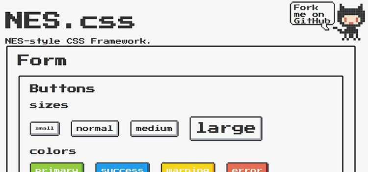 -Bit NES-style CSS Framework