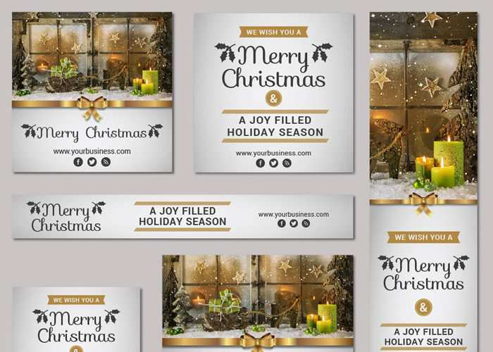 Free Christmas & New Year Vector Banner Kit (AI & EPS)