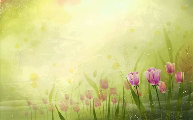 Spring Desktop Wallpaper Vector art flowers