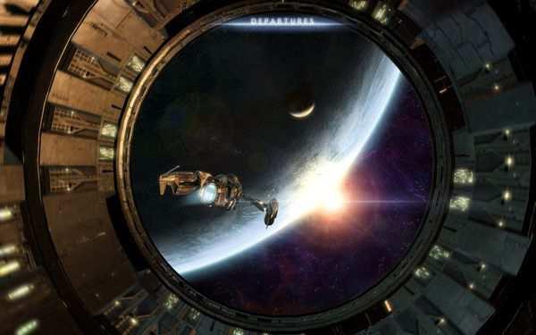 space wallpaper Departures