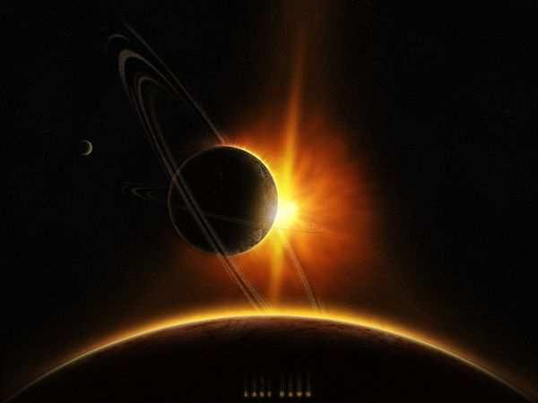 space wallpaper Last Dawn