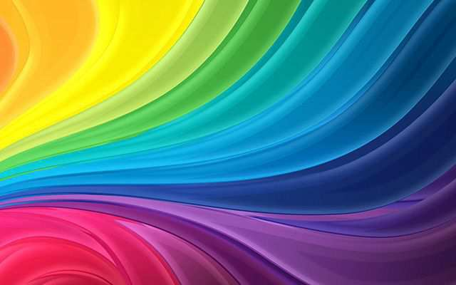 Curl Rainbow Abstract Colorful Desktop Wallpapers
