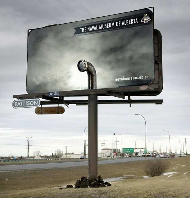 creative advertising The Naval Museum of Alberta