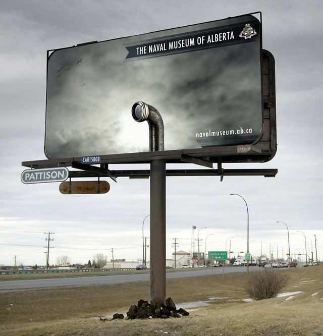 creative advertising The Naval Museum of Alberta