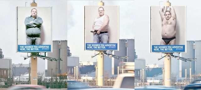creative billboard Male Stripper