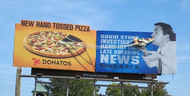 creative advertising Donatos Pizza