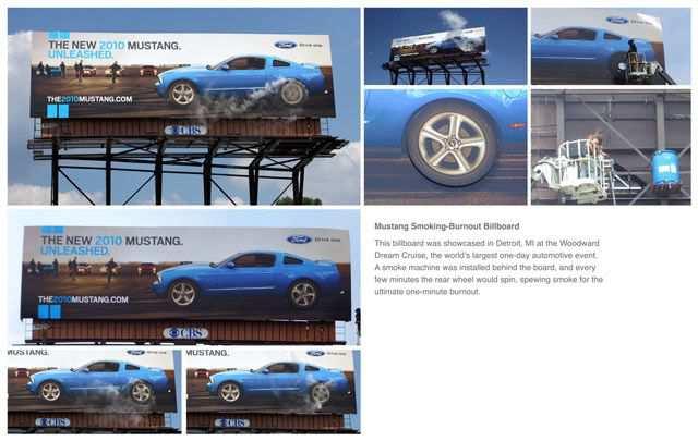 creative advertising billboard design  Burnout