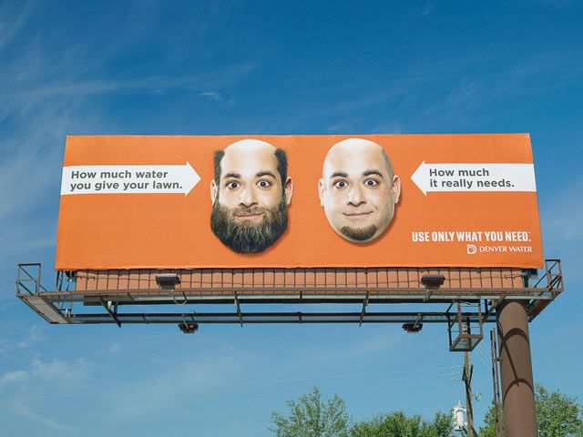 smart billboard design  Denver Water Beard