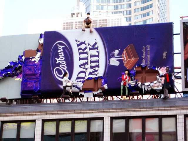 creative advertising Dairy Milk Billboard