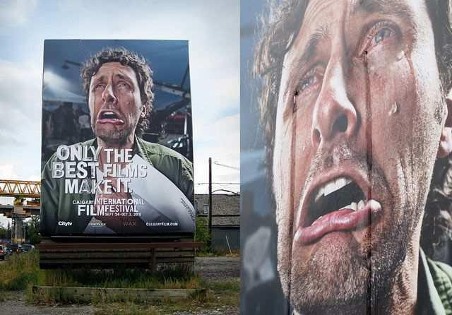 creative advertising billboard design  Crying