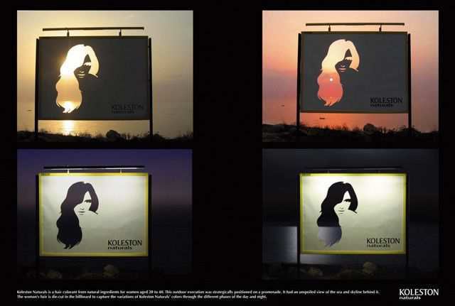 creative advertising billboard design  Koleston Naturals