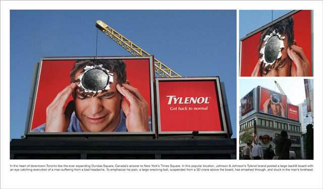 creative advertising Tylenol Ball