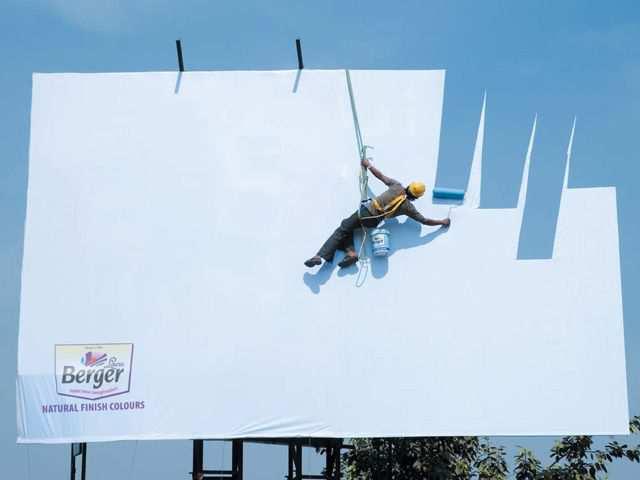 creative advertising Berger Sky