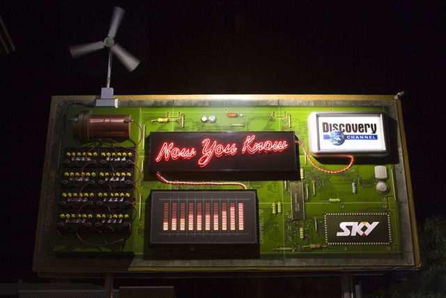 smart billboard design  Sky Discovery Channel