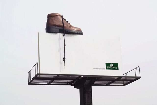 creative advertising billboard design  Climbing Shoe