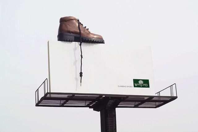 creative advertising billboard design  Climbing Shoe
