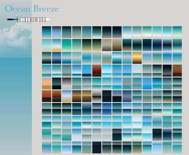 Ocean Breeze adobe photoshop 75 Gradients