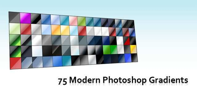 Modern adobe photoshop 75 Gradients