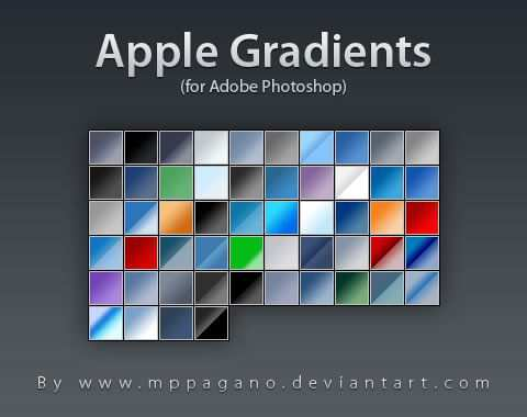 Apple Gradients adobe photoshop 54 Gradients