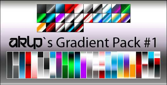 AKLPs Gradient Pack adobe photoshop 25 Gradients