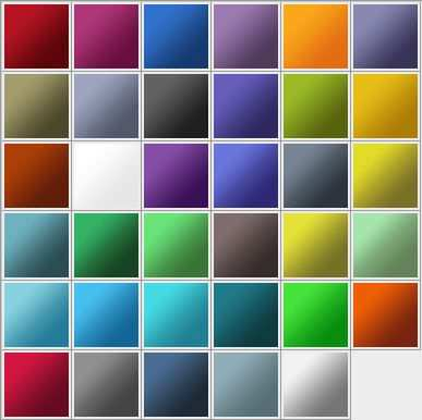 Adobe CS3 Gradients adobe photoshop 35 Gradients