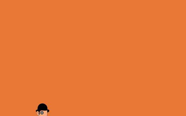Minimal Wallpaper Desktop Clockwork Orange