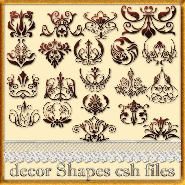 photoshop custom shapes Decor