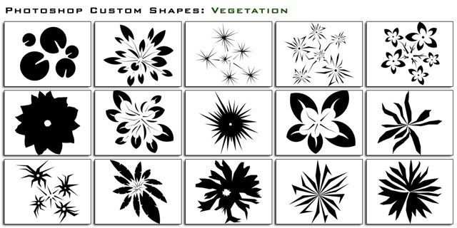 photoshop custom shape Vegetation