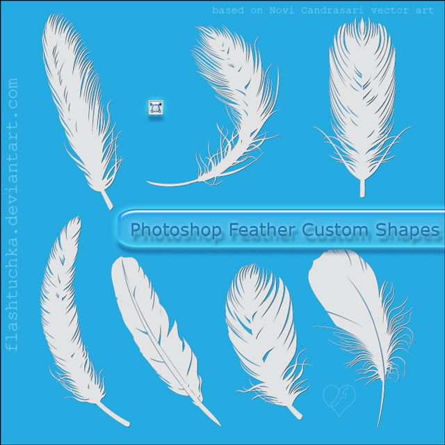 photoshop custom shape Feather