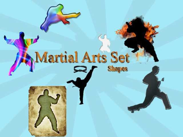 photoshop custom shape Martial Arts