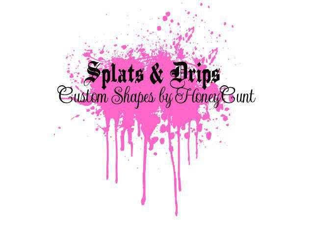 photoshop custom shape Splats n Drips